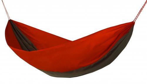 Hamaka Single červeno-hnědo-červená