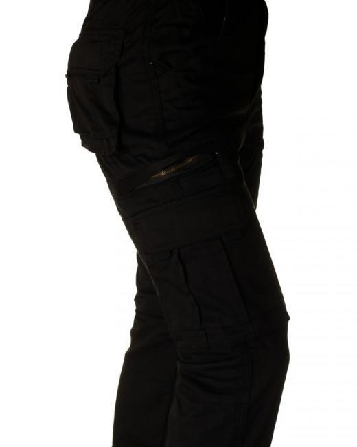Kalhoty Loshan černé