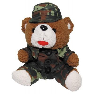 Plyšový medvěd voják