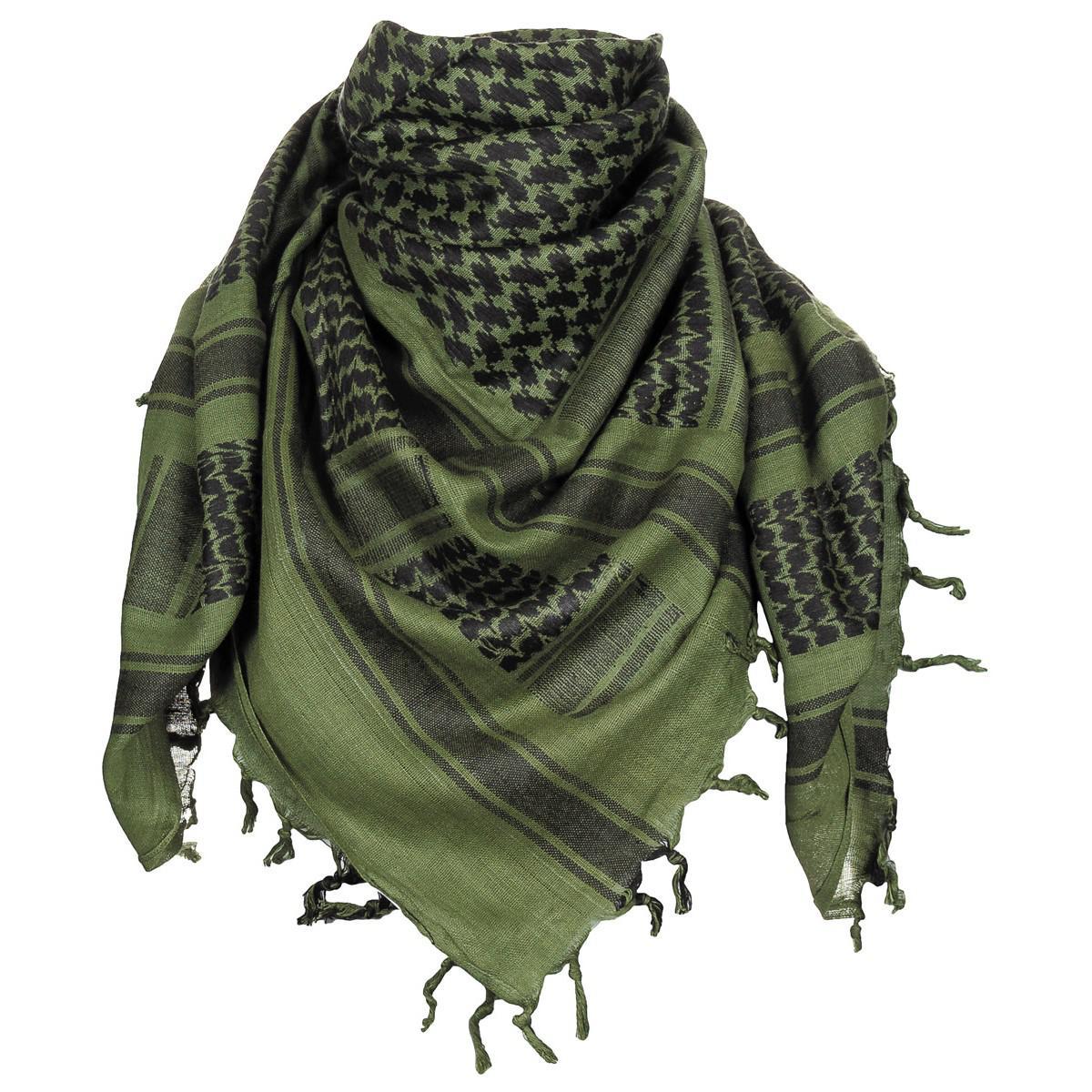Shemagh černá/zelená