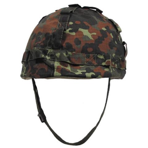 Plastová helma s potahem BW ( Flecktarn )